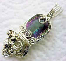 Mystic Topaz 17 Carat Gemstone Pendant Sterling Silver