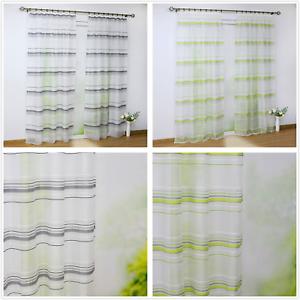 Details zu 2 St. Vorhänge Gardinen Wohnzimmer Deko Gardinen Stores  Fenstergardine Schals