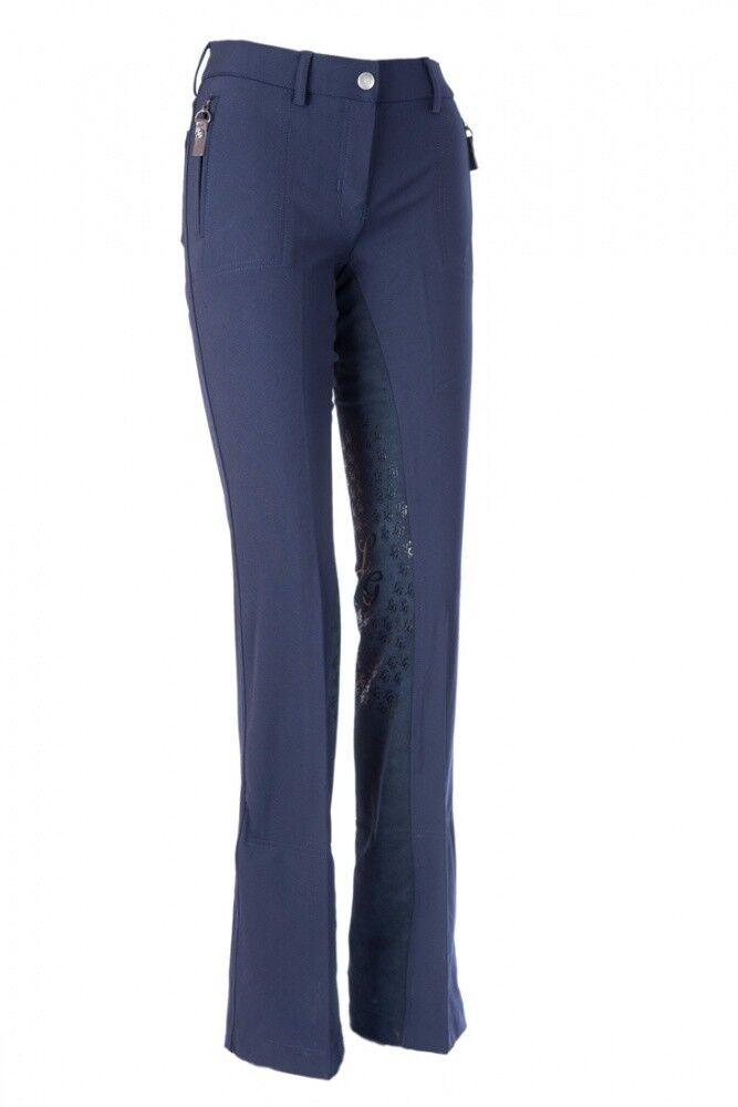 Da Donna Jodhpur MONTALA Pantaloni guarnizione in pieno Scotland Cargo Lauria Garrelli Blu Scuro Nuovo