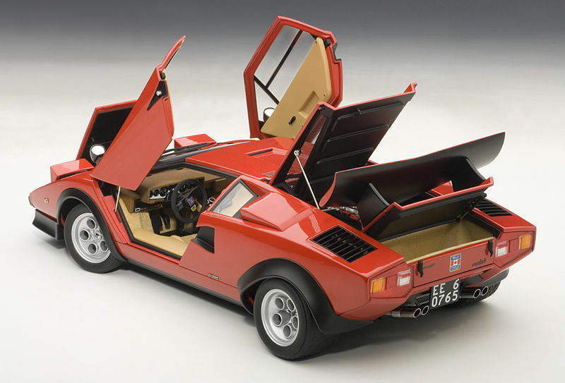 1 18 Autoart 1974 Lamborghini Countach LP500 S Walter Wolf Edition rosso