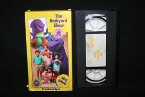 Barney & Friends - The Backyard Show 1990 VHS Rare Early ...