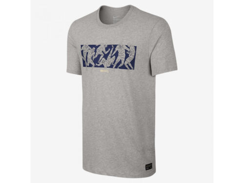Men/'s Nike F.C Six A Side Tee Athletic Cut Premium Gray T-shirt NWT Size XS,S
