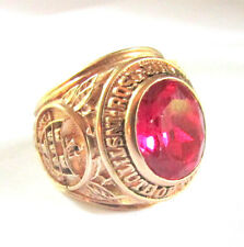 VTG 10K GOLD CLASS RING ROSE HULMAN INSTITUTE OF TECHNOLOGY 1980 no scrap 17.8g
