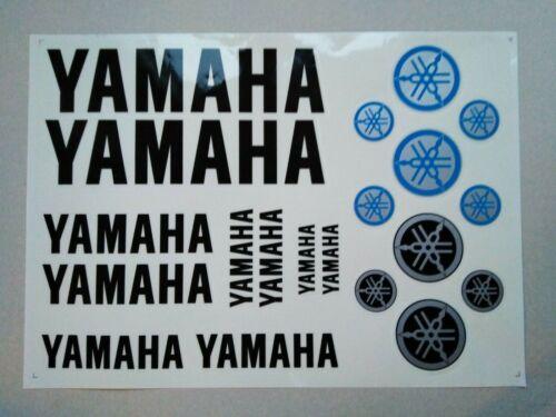 Yamaha  Aufkleber Schwarz Yamaha Stickers Black