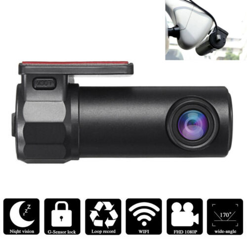 Mini WIFI Dash Cam HD 1080P Car DVR Camera Video Recorder Wide Angle G-sensor US