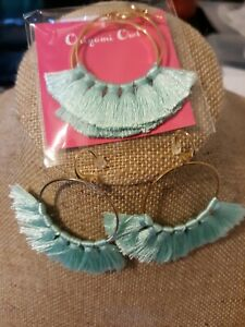 Origami-owl-Hoop-earrings-With-Tassels-Attached