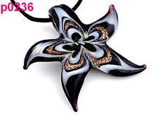 New Fashion Women's Starfish lampwork art glass beaded pendant necklace