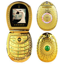 lotus flower jade buddha FM MP3 DV luxury women dual sim mobile phone cellphone