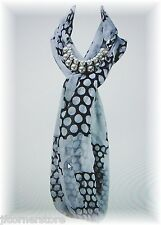 NEW!! JEWELLERY SCARFS-POLKA DOT PERFECT SCARF FOR CASUAL OR SPECIAL OCCASION