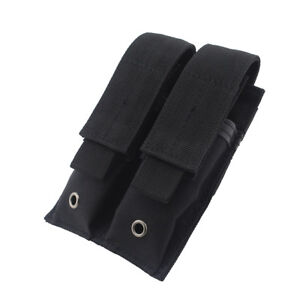 Tactical-Molle-Double-Magazine-Pouch-Pistol-Mag-Holder-for-Hunting-Black