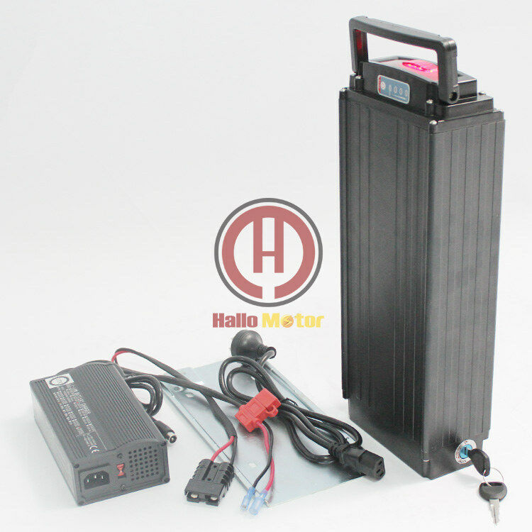 EU DUTY FRE48V 11AH OEM Cell Rear Carrier Li-ion Battery with Charger Akku Li-Po