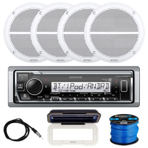 """Radio Shield Kenwood 1-DIN Receiver 4 x 6.5/"""" Speakers Speaker Wire Antenna"""