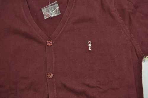 Obey NOBLE CARDIGAN Oxblood White V-Neck Men/'s Discounted Cardigan Sweater
