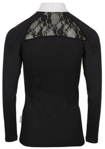 Horseware Ladies Competition SARA Long Sleeve Lace Show Shirt Black//White XXS-XL
