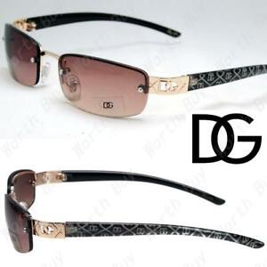 c26b2c07da Image is loading New-DG-Eyewear-Rectangular-Brown-Womens-Mens-Rimless-