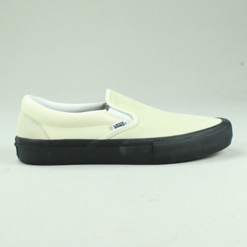 Zapatillas Reino negro Classic 9 Plimsolls 7 11 10 6 8 Unido Pro Vans Blanco Tamaño Slip on Zapatos XwWAxgqS