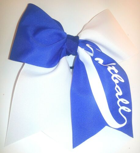 Royal Blue and White Tick Tock Softball Hair Bow *Customize available!