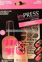 Kiss Impress 24 Press-on Cha-cha Manicure+strip Nail Designer Kit Pink 59065 Set
