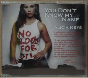 Details about ALICIA KEYS You Don´t Know My Name UNIQUE! Single DJ PROMO CD  BRAZIL