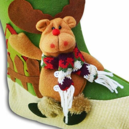 """Details about  /3D 18/"""" Christmas  Hanging Stockings  Snowman //Santa/'s Gift  Stockings  Bag"""