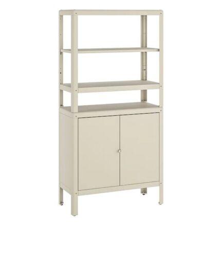 IKEA Regal mit Schrank aus Stahl  Bre beige 80x37x161 cm,aufbewahrung