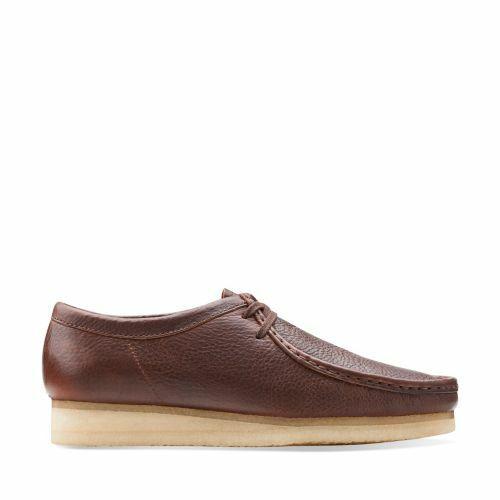 Clarks Mens Originales Wallabees Zapato Caído Marrón Lea  GB 6,7, 8G