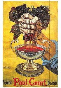 CP Postcard Poster Advertising Great Wines Paul Short Dijon Edit Clouet 10416