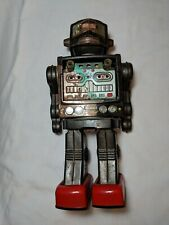 """VINTAGE HORIKAWA  JAPAN BATTERY OPERATED """"FIGHTING SPACE MAN""""  Free S&H"""