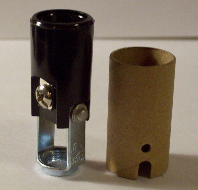 """4/"""" Tall ~ Keyless E12 ~ Candelabra ~ Chandeier Phenolic Light Socket with Hickey"""