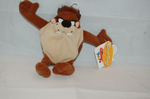 "Taz Tazamanian Devil 8"" Looney Tunes Plush NWT Bean Bag Stuffed Toy"