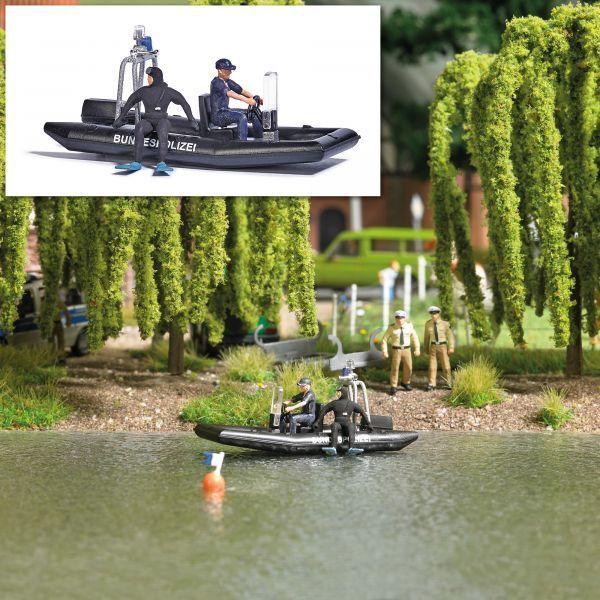 Busch 5485 - 1 87   H0 See mit fahrendem Polizeiboot - Neu