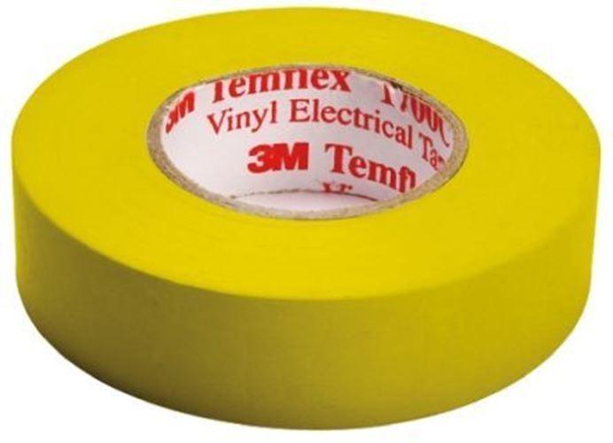3 m Temflex 1500 Jaune Jaune Jaune Isolation Électrique Bande, 19 mm x 20 m, 0.15 mm épais 2400f4