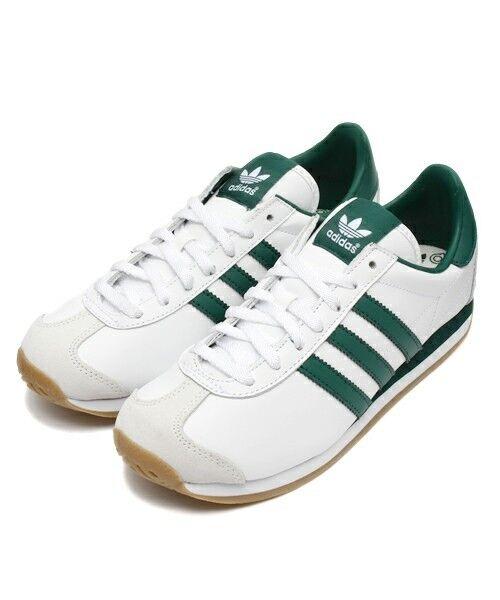 2018 Adidas Originals país Original 7-12 Blanco/Verde Talla US 7-12 Original G26687 exclusivo de Japón 7239da