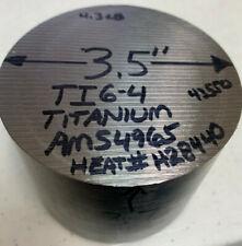35 Diameter X 275 Long Ti6 4 Titanium Round Stock Ams4965