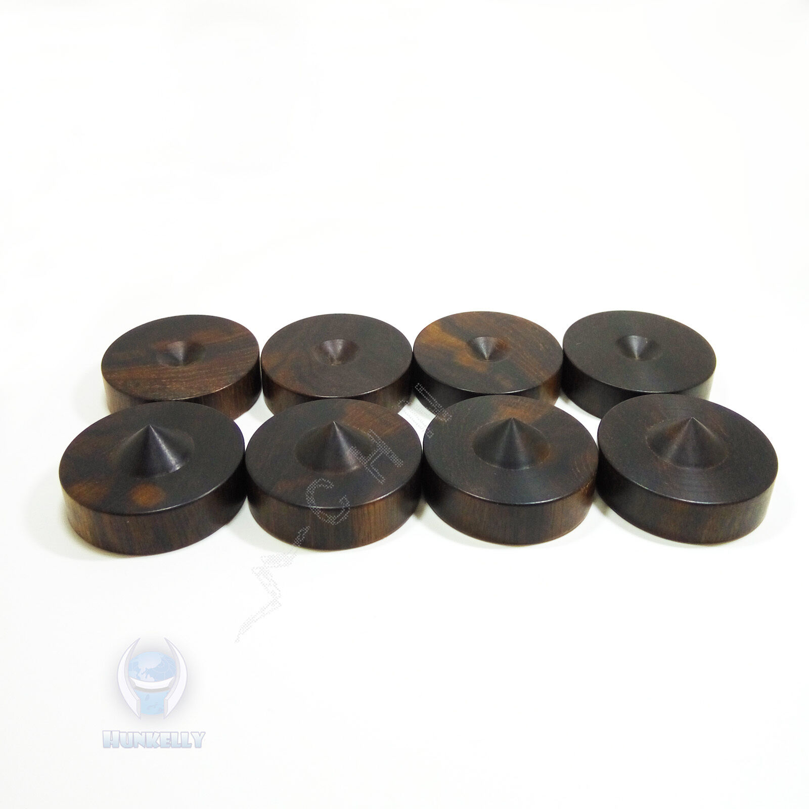 Pads 3 x 23mm Ebony Wooden Speaker Isolation Wood Stand Foot spikes