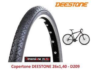 """Copertone DEESTONE 26x1,40 D209 Nero Slick Camera d/'aria per bici 26/"""" Cruiser"""
