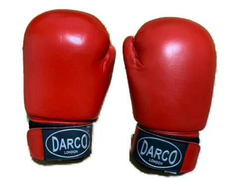 Leather Boxing Gloves red for kids