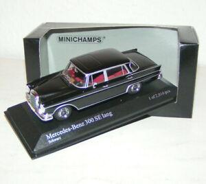 MERCEDES-BENZ-300-se-Aletta-posteriore-W-112-BLACK-1965-Minichamps-1-43