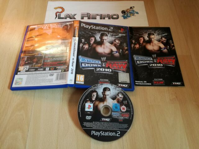 PLAY STATION 2 PS2 SMACKDOWN VS RAW 2010 COMPLETO PAL ESPAÑA