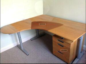 Ikea Galant Corner Desk Beech Veneer