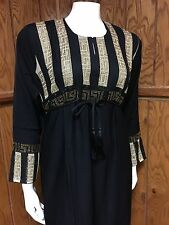 Beautiful Khaleeji Embellished Abaya Muslim Jilbab With Hijab Dubai Size XXL 62