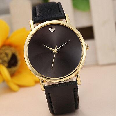 Fashion Womens Watch Retro Design Alloy Leather Band Analog Quartz Wrist Watches