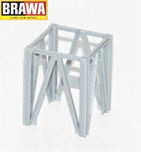 Brawa-H0-0013802-01-Seilbahn-Mast-Zwischenstuck-kurz-NEU-OVP