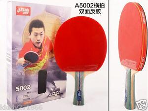 Ping Pang Paddle Table Tennis Rackets DHS 5002 Grip 5 Star Bat Long Handle