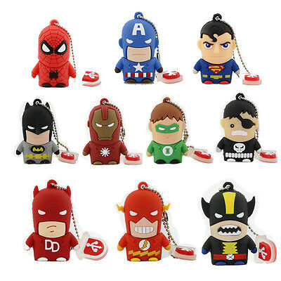 The Avengers super hero model USB 2.0 Memory Stick Flash pen Drive 4GB-32GB Q15