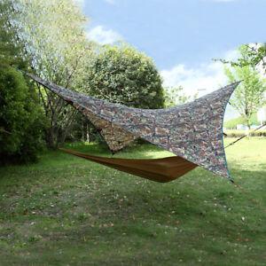 Hammock Shelter Tent Sunshade Outdoor Camping Rainfly Tarp