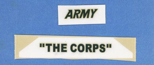 NOS Army Black Knight FS Riddell VSR4 Team  Name Football Helmet Decals 20mil