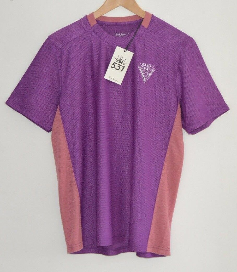 PAUL SMITH 531 purple cycling base layer jersey t-shirt tshirt top bike MEDIUM