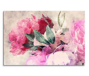 Blüte,natur,floral lila,roßa Leinwandbild 120x80cm auf Keilrahmen Blume