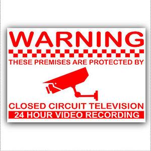 1 X Locaux Sont Protégés Par Caméra De Surveillance 24 Heures D'enregistrement Sticker-security Signe-ty Sign Fr-fr Afficher Le Titre D'origine Et Aide à La Digestion